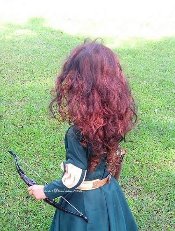 Merida Brave Costume for Kids - Hair Extension