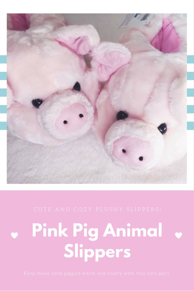 Review - Pink Pig Animal Slippers from Bunnyslippers.com
