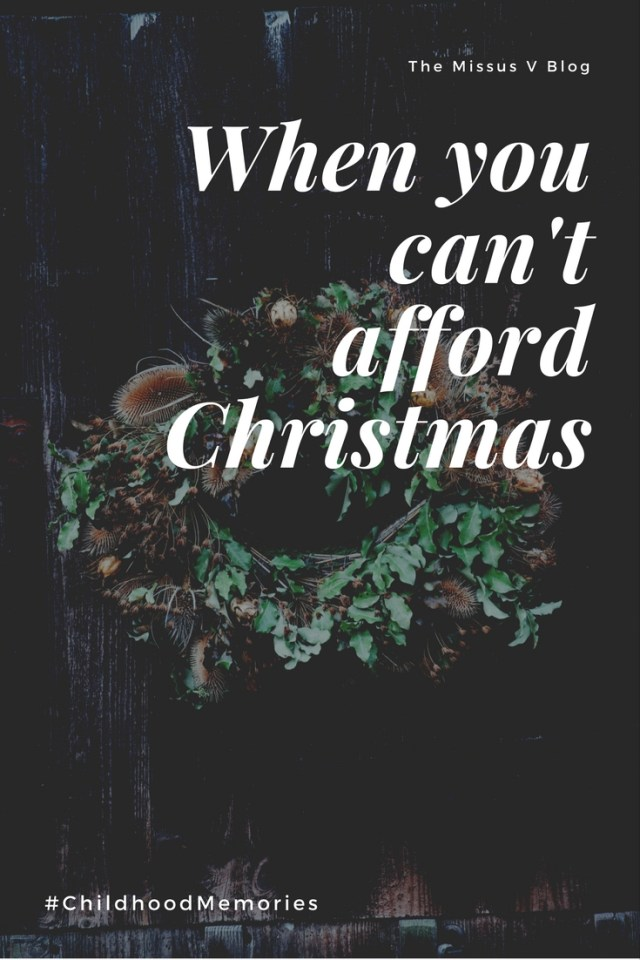 When You Can't Afford Christmas