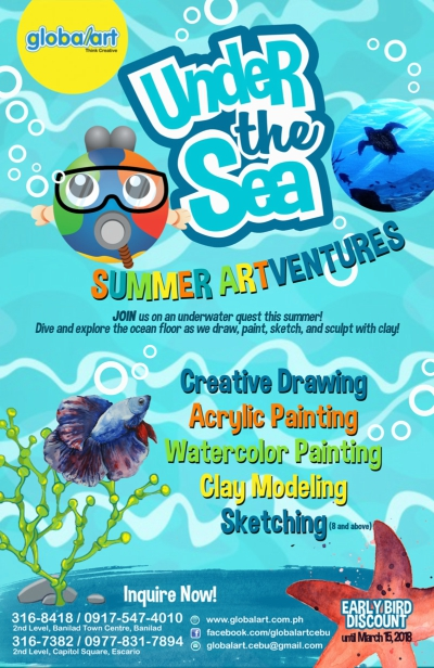 Summer Classes in Cebu- GlobalArt Under The Sea Workshop