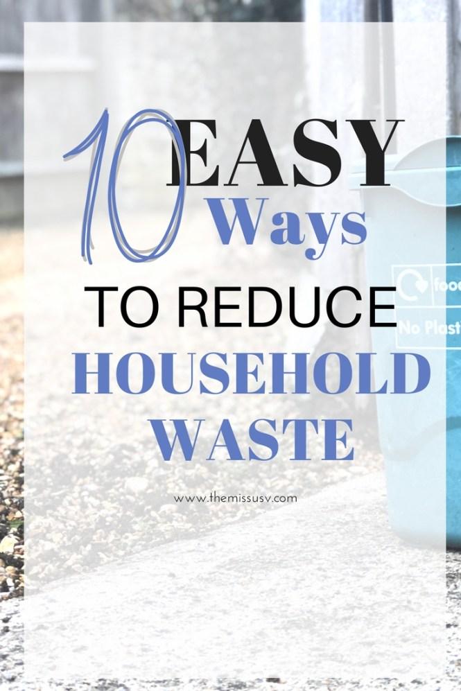 10 Ways to Reduce Household Waste -Zero waste living
