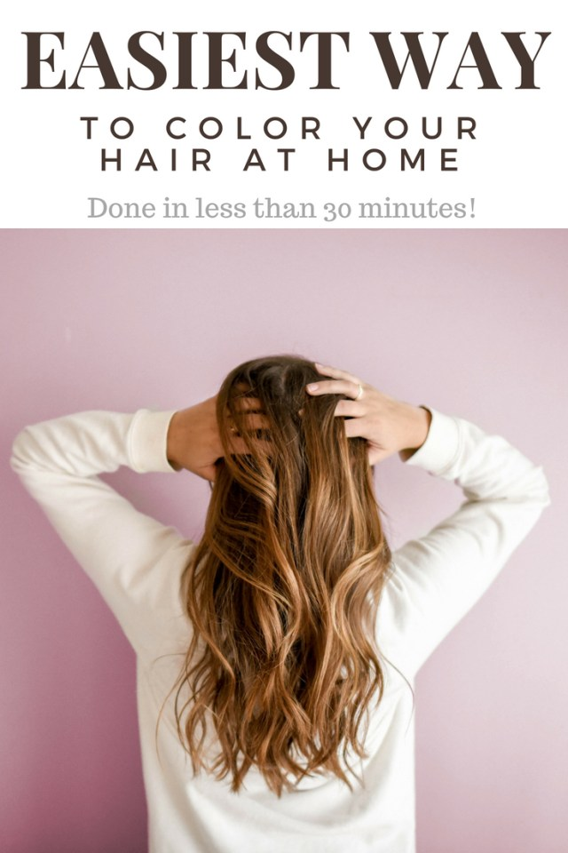 Easiest Way to Color Your Hair at Home