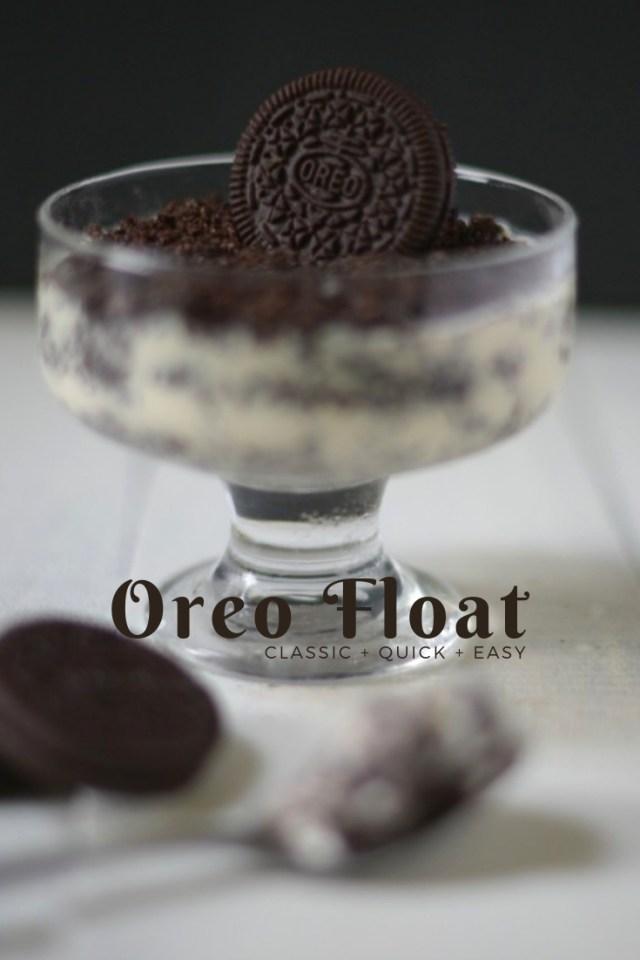 oreo dessert - no bake oreo float