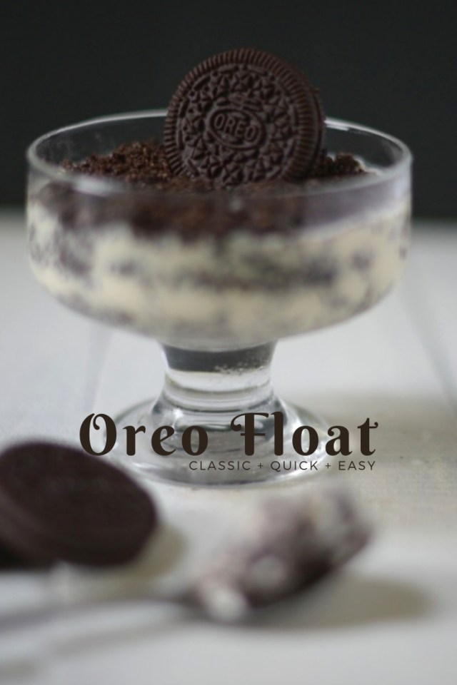 oreo dessert - no bake oreo float