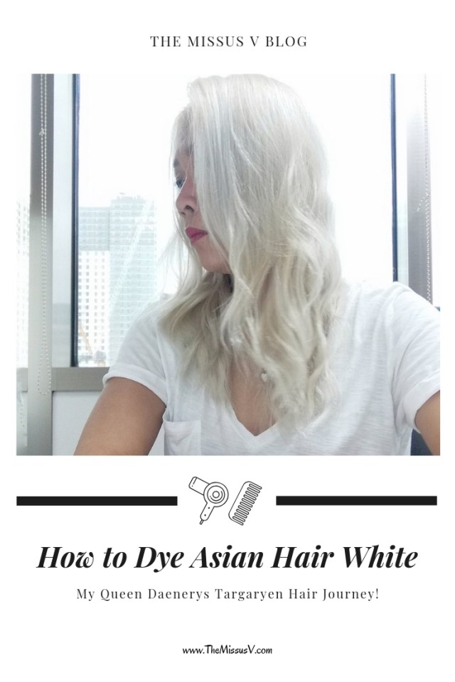 How to Dye Asian Hair White My Queen Daenerys Targaryen hair journey. Lots of in-between photos plus all products that I used