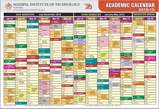 Academic Calendar (2018-19)