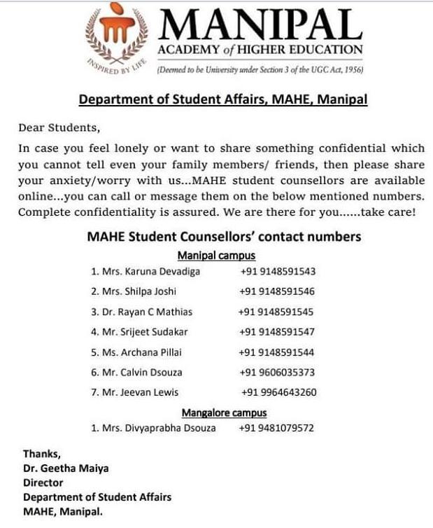 MAHE-Student-Counsellors