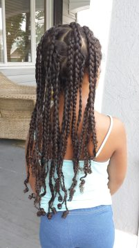 Cornrows, Box Braids, Metal Cuffs Protective Style by THe Mixed Mama Blog
