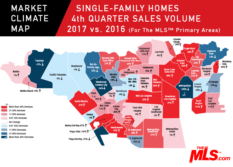 Q4 2017 Market Climate Map Sales Volume For Single Family Homes