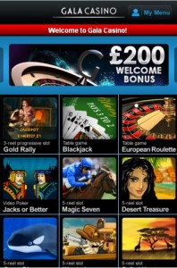 gala mobile casino homepage