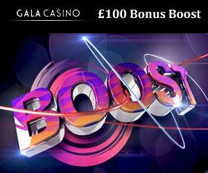 gala mobile casino 100 bonus boost