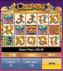 cleopatra mobile slots reels