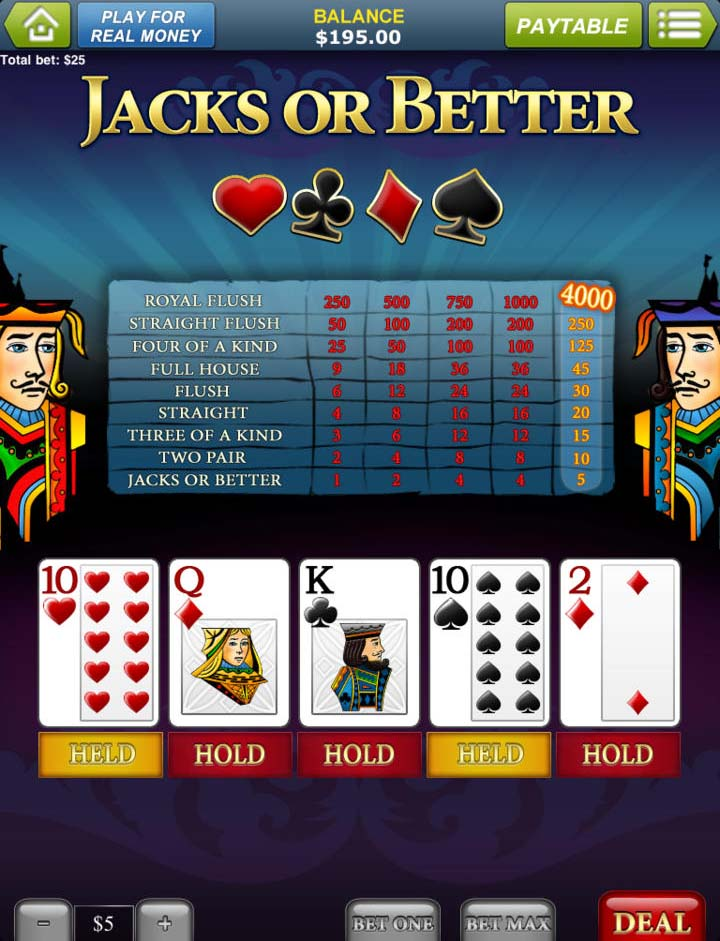 Betfair casino jack or better