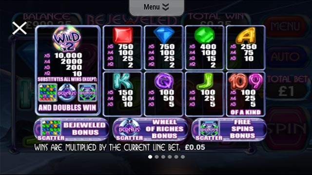 bejeweled mobile slots 2