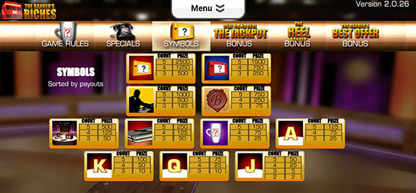 deal or no deal mobile slot symbols