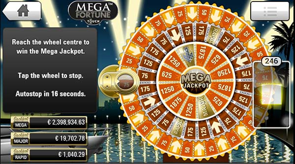 Mega Fortune mobile slots bonus