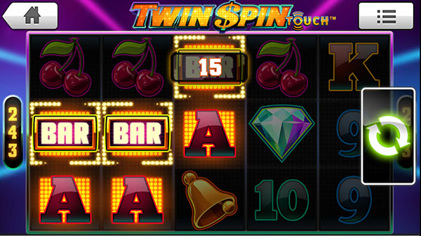 twin spin mobile slots win