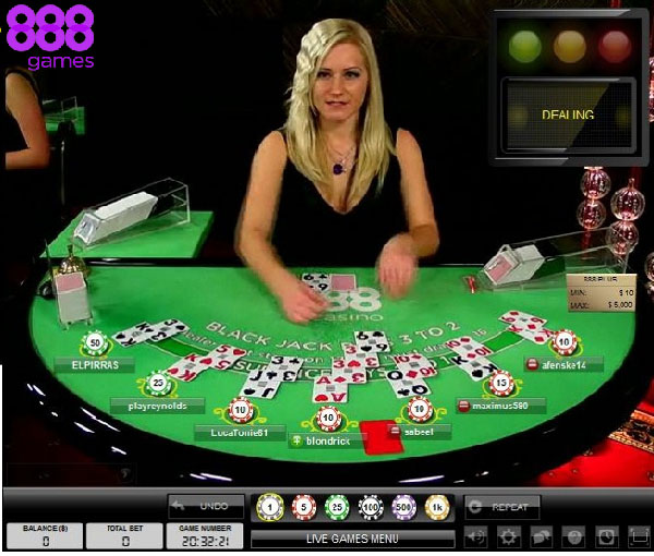 888 games live casino