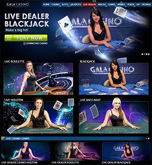 gala live casino lobby