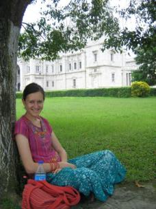 In the gardens of the Victoria memorial