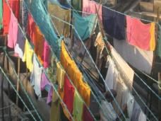 Clothes drying at Dhobi ghat