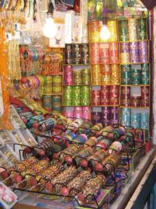 One of many tiny bangle shops