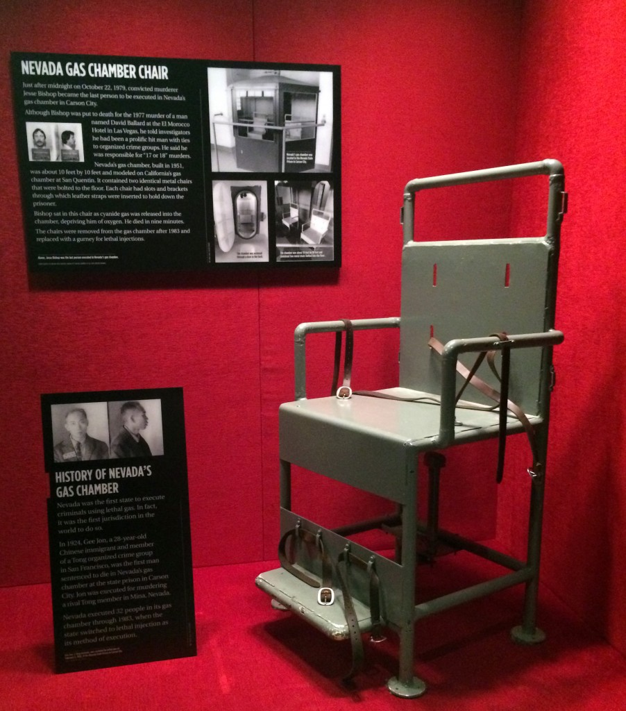 old metal chairs ethan allen wicker chair nevada gas chamber goes on display | the mob museum