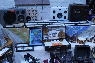 Cable & blue tooth enabled vintage suitcase speakers and amps from The Base Case