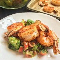SPICY SHRIMP with GUACAMOLE SALAD