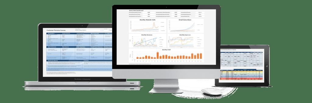 Business Strategy Dashboard Screenshots