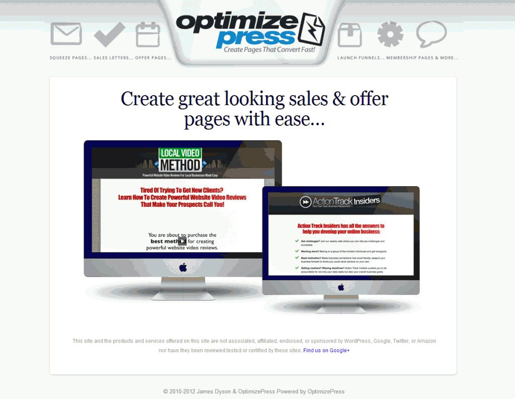 OptimizePress: Internet Marketing Theme for WordPress
