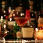 Home-crafted Cherry Rye Manhattan Cocktail