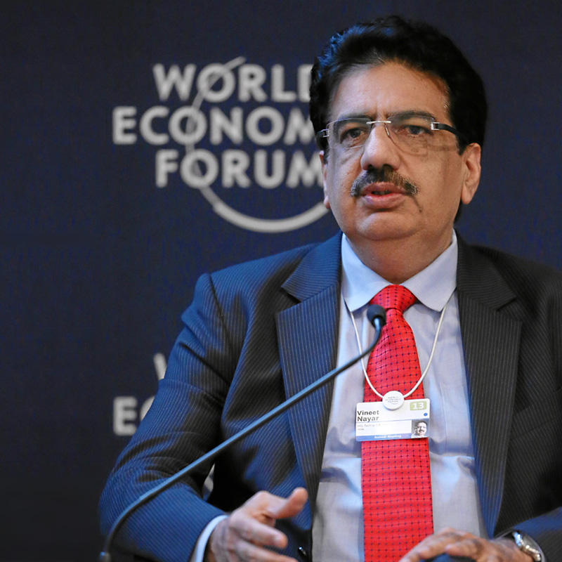 Vineet Nayar, Vice-Chairman and Joint Managing Director, HCL Technologies, at the Annual Meeting 2013 of the World Economic Forum in Davos, Switzerland, 2013. Copyright by World Economic Forum. Photo Moritz Hager