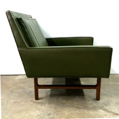 Milo Baughman Chair Swivel Assembly 1960s Olive Green For Thayer Coggin Lounge