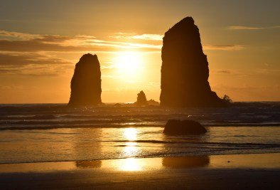 Golden hour on the Oregon Coast. Cannon Beach, Oregon.
