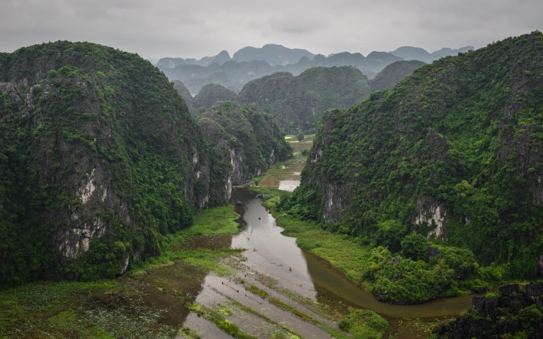 "The karst limestone river valleys of Ninh Binh. The ""Halong Bay on Land"". Ninh Binh, Vietnam."