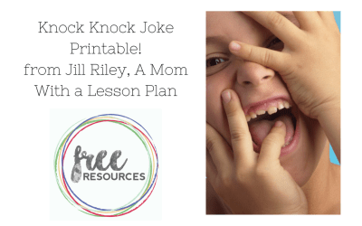 Knock Knock Joke Printable