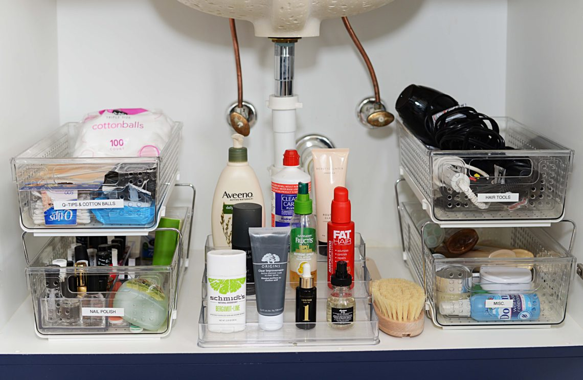 How To Organize A Bathroom How To Organize Your Bathroom Cabinets The Modern Savvy