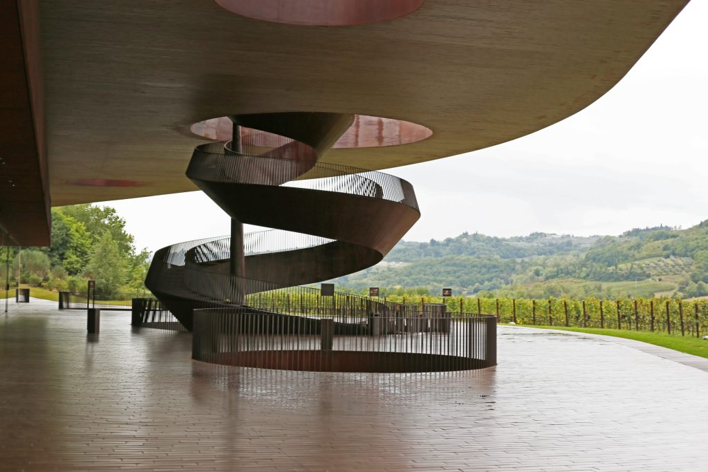 The entrence to Antinori Winery