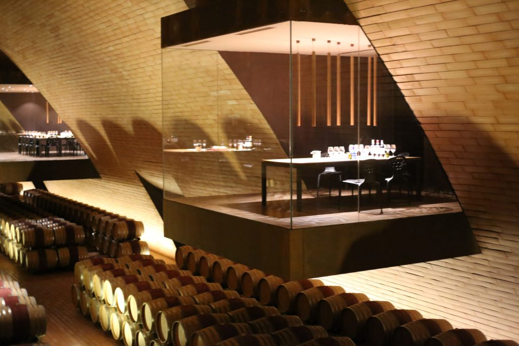 The tasting room inside the winery.