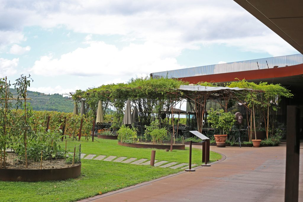 The restaurant and outside the winery