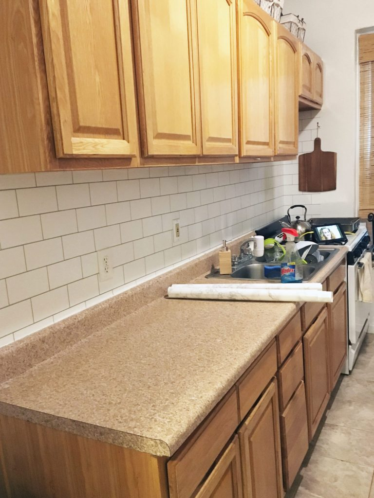 Kitchen remodel to achieve a clean home.