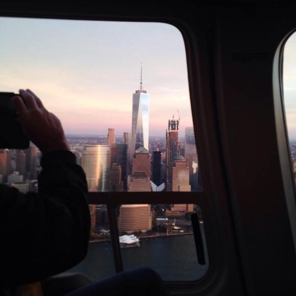 Onr World Trade Center from helicopter