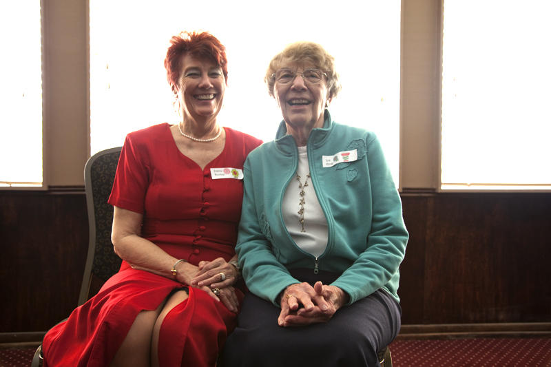 Joanie Dunlap and Liz King have been friends and members of Geowives for decades.
