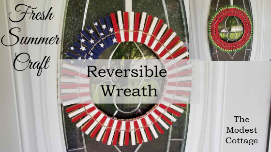 summer wreath patriotic wreath