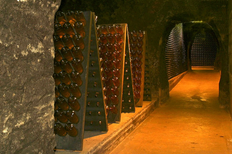 Schramsberg-Cave-Riddling-Racks-Photo-Credit-Schramsberg-Vineyards