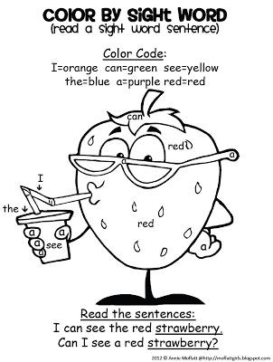 FREEBIE Alert! Color by Sight Word Sentences!