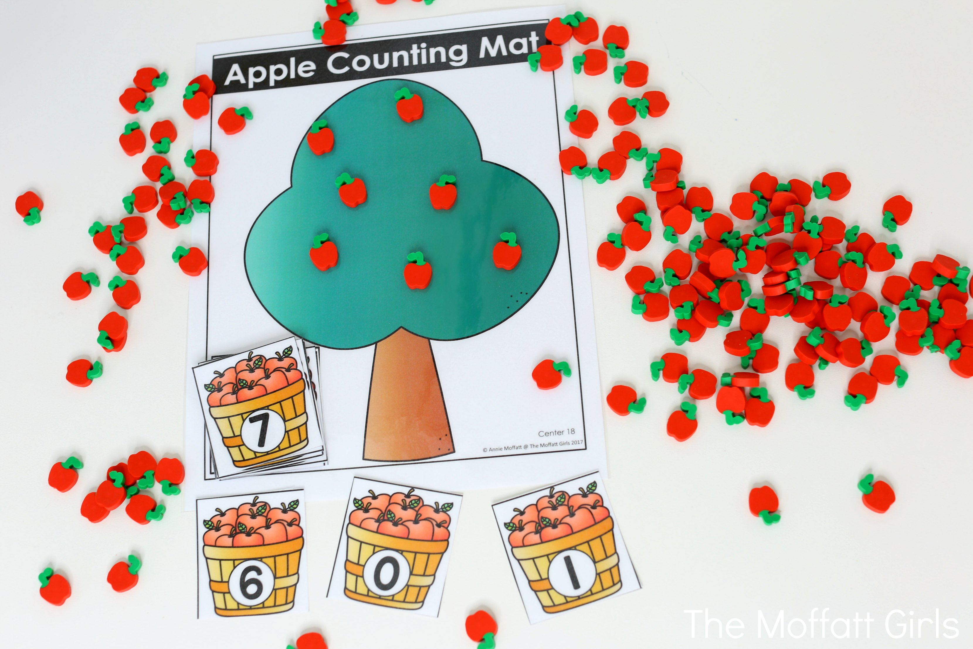 Kindergarten Math Apple Counting