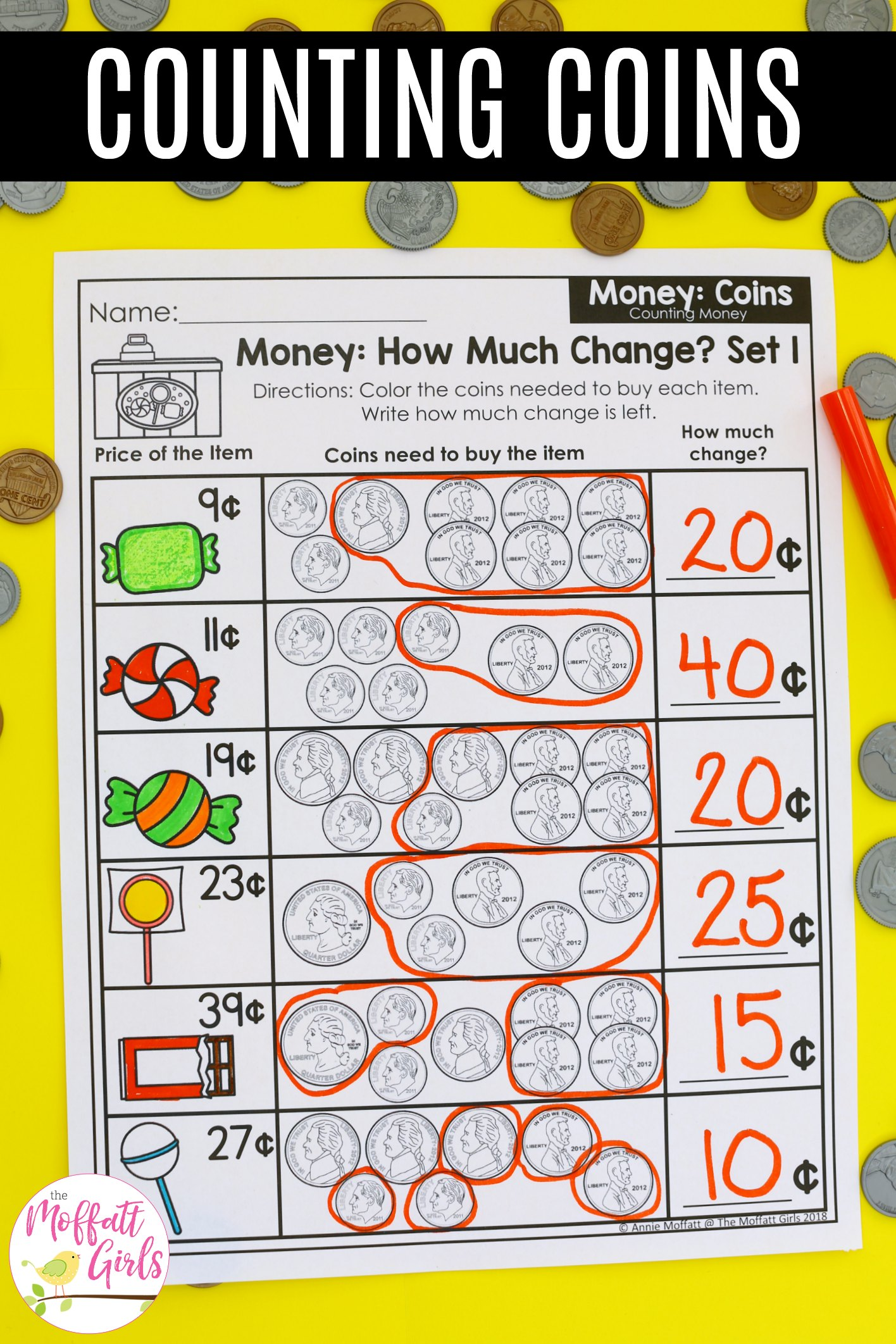 Money Math Worksheets