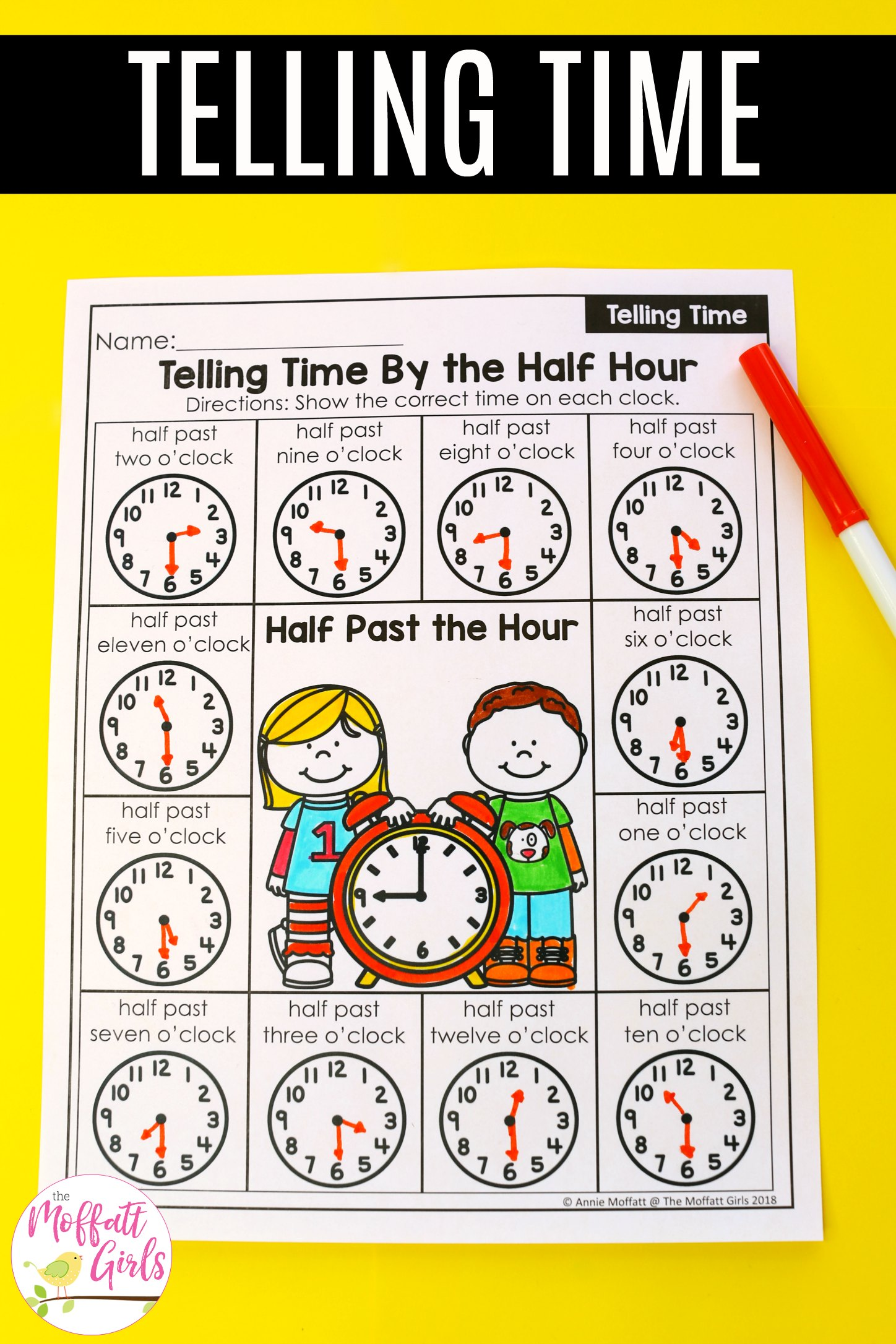 Telling Time Worksheets 3b